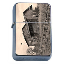 Vintage Train Stations D15 Windproof Dual Flame Torch Lighter Refillable Retro - $12.82