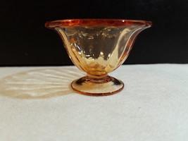 """Fostoria FAIRFAX AMBER Nut Salt Elegant Glass Cup Footed 1 1/2"""" T x 2 1/... - $8.00"""