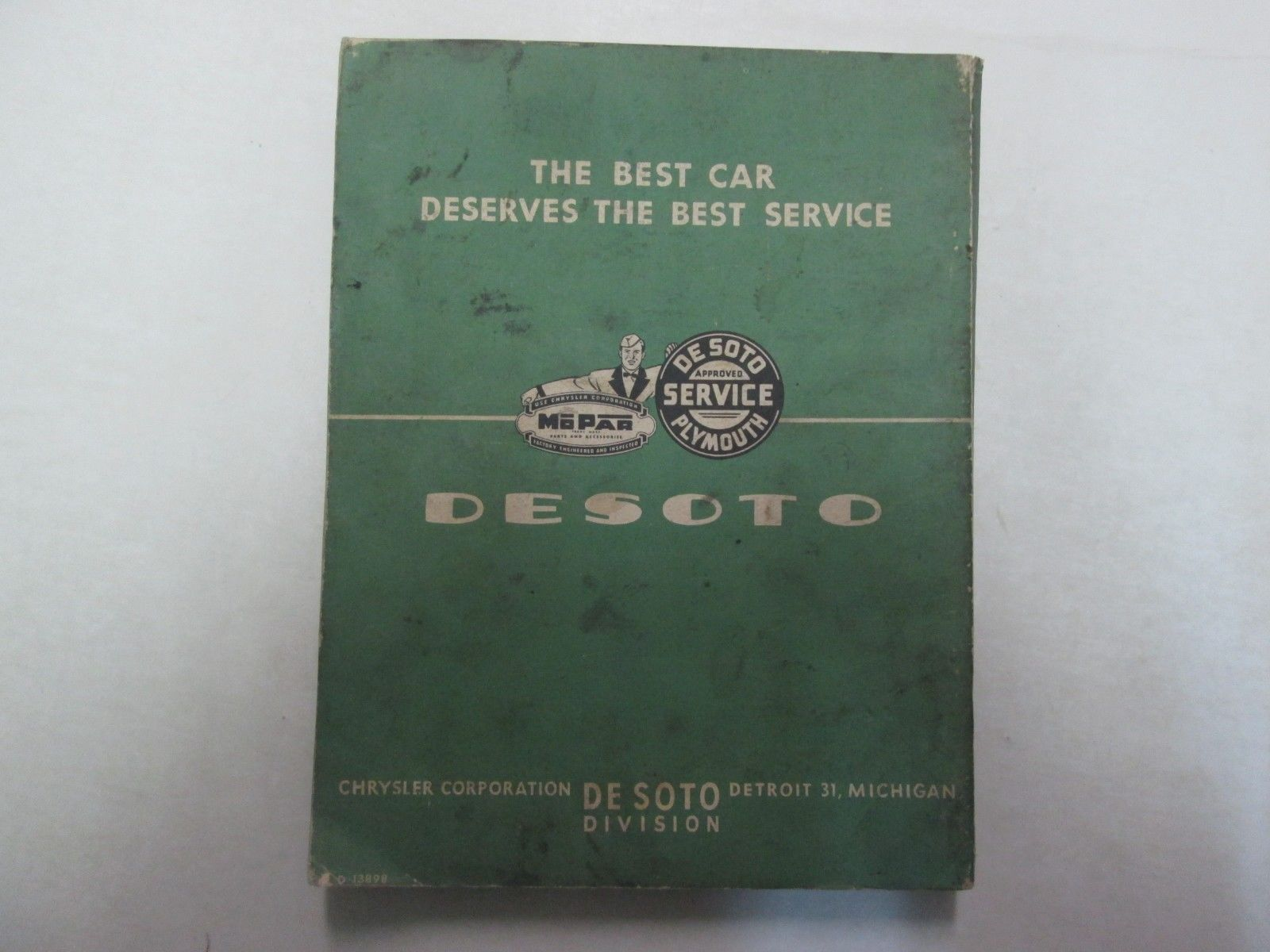 1952 Chrysler Desoto Fire Dome Eight Model S-17 Preliminary Shop Manual ***