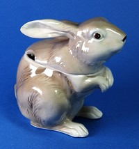 "Otagiri Ceramic Rabbit Honey Jam Pot Condiment Jar 1982 No Spoon 4.5"" Tall - $6.00"