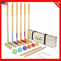 GoSports Premium Croquet Set for Adults & Kids - Choose Deluxe and Standard - $65.32