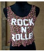 Papaya women M sleeveless cropped tank top floral - $18.92