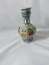 Delft Vase Shape 63 14cm 8 sided signed JR? Marked DP - $41.15