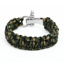 Survival Paracord Bracelet Men Outdoor Camping Handmade Woven Parachute ... - $11.80