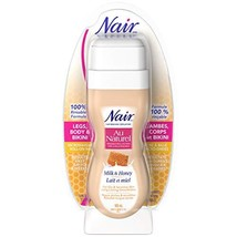 Nair Roll-On Milk and Honey Sugar Wax for Dry & Sensitive Skin 3.4 Ounce/100ml