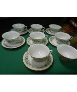 "Beautiful JACKSON Cina ""Featherweight""  Set of 7 CUPS & SAUCERS & 1 FRE... - $42.16"