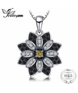 JEWELRY PALACE 925 sterling silver Blue Spinel Flower Pendant Necklace [... - $17.82