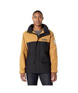 Timberland Men's Color Block Black & Wheat Nylon Rain Jacket A1N8A Size ... - $99.99