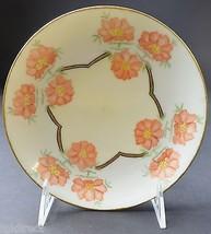 "Classic Bavaria Peach Floral Gold Trim Bread & Butter Plate 6.625"" R Col... - $9.99"
