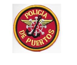 Puerto Rico Federal Police Maritime Unit Policia de Puertos Nacional Patch 4 in  - $9.99