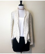 Elizabeth And James Lace Cardigan Womens Size XS Cream Raw Hem Tie Front... - $87.08
