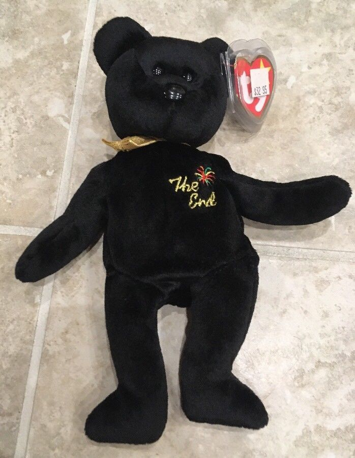1dad712f7 Ty Beanie Babies The End 1999 Black Bear w/ and 23 similar items