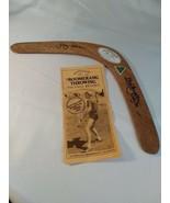 Boomerang Signed By Paul Bryden 1990 Australian Boomerang Champion Benne... - $21.77