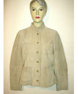 BANANA REPUBLIC WOMENS SMALL TAN SUEDE JACKET COAT GENIUNE LEATHER LINED - $18.79