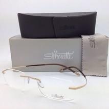 Neu Titanium Minimale Kunst Rahmenlose Silhouette Brille 7577 6050 7581 - $298.85