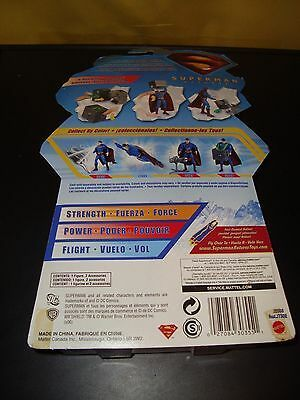 Superman X-Ray Alert Superman Returns Action Figure 2006 Mattel New In Package