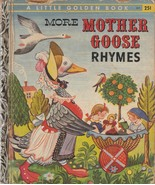"More Mother Goose Rhymes 1958 Little Golden Book 1958 ""A"" Feodor Rojanko... - $8.90"