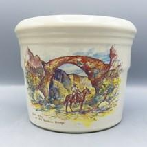 Zanesville Stoneware Zane Grey At Rainbow Bridge Leslie Cope Vase Pot Pottery image 1