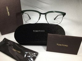 New Authentic Tom Ford TF5393 098 Clear Green & Black 53mm w/Case In Box - $94.00