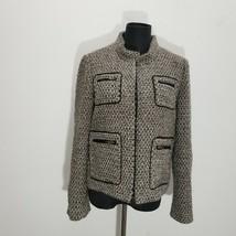 J Crew Womens Gilded Tweed Jacket Size 8 Zip Up Wool Alpaca Pockets 3184... - $38.69