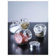 IKEA RAJTAN Spice jar, glass, aluminum color, 5 oz