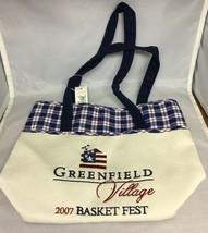 Longaberger Greenfield Village Fabric Tote Bag 2007 Basket Fest - $9.31