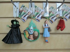 Set of 4 - WIZARD of OZ Ornaments - Witch, Dorothy, Four Friends Plaque ... - $20.00