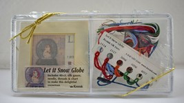 Kreinik Let it Snow Globe Silk Gauze Kit - Silk Mori Thread - Framed or ... - $18.95