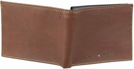 Tommy Hilfiger Men's Leather Bifold RFID Blocking Wallet With Zipper Coin Pocket image 5