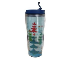 Starbucks 2006 Holiday Christmas Tree Lenticular Insulated Travel Coffee... - $12.82