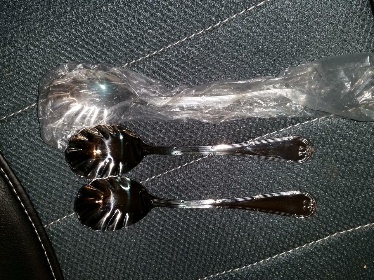 Primary image for 3qty Wallace HOTEL Sugar Spoon Spoons Stainless 18/10 NOS