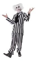 CRAZY GHOST (BEETLEJUICE), MENS HALLOWEEN FANCY DRESS COSTUME #US - $59.95