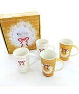 Maxwell Williams Wreath Mugs Christmas Box Set 4 Fine China Cups Coffee New - $59.99
