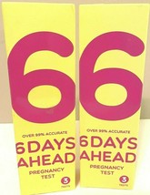 Lot Of 2, 6 Days Ahead Pregnancy Test 3 Tests Over 99% Accurate Exp. 10/... - $12.00