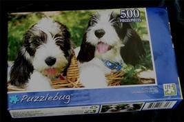 BRAND NEW FACTORY SEALED 500 PiecePuzzlebug Jigsaw Puzzle Puppy Basket - $5.93
