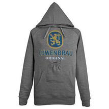 Lowenbrau Logo Beer Pouch Hoodie Grey - $55.98+