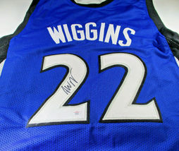 ANDREW WIGGINS / AUTOGRAPHED MINNESOTA TIMBERWOLVES CUSTOM BASKETBALL JERSEY COA