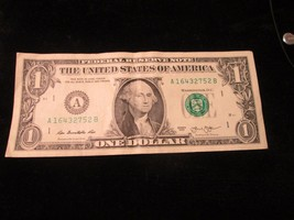 RARE 2013 Boston Federal Reserve Note With 7# Straight in serial 1,2,3,4,5,6,& 7 - $2.00