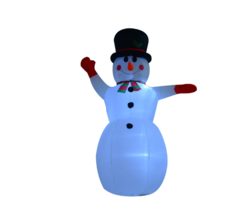 8ft Indoor Outdoor LED Inflatable Waving Snowman Holiday Christmas Yard ... - $69.29