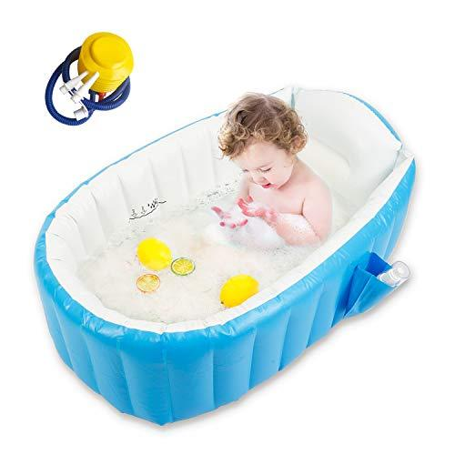Primary image for Baby Inflatable Bathtub, Goodking Portable Infant Toddler Bathing Tub Non Slip T