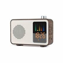Sysmarts Wooden Retro Stereo Wireless Portable Bluetooth Speakers With F... - $40.08
