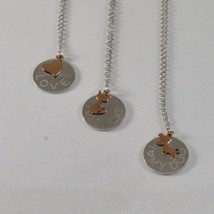 Silver Necklace 925 Jack&co with Heart Dog or Cat in Rose Gold 9KT 60 CM image 1