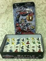 Power Rangers Battle Dominoes, 7.5in x 4.5in x 2in Tin Box - $14.20