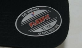 Flexfit Black 6277 Twill Hat XL XXL Permacurv Visor With Silver Undervisor image 8