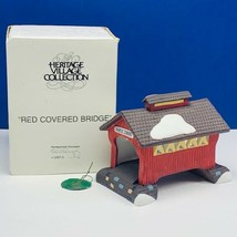 Department 56 Heritage collection village Christmas Red Covered Bridge 5... - $23.98