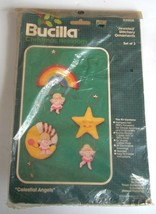 Celestial Angels Bucilla 82006 Christmas Jeweled Stitchery Ornaments Set... - $12.86
