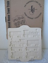 Vintage Pampered Chef Home Town Train Gingerbread Mold Stoneware 1998 #1806 - $14.99