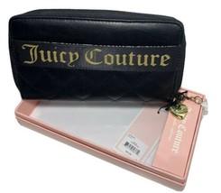 Juicy Couture Starburst Wallet Zip Around NIB Black - $27.08