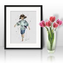 Spirited Away art print Haku anime Prints Printable Watercolor Art poster  - $3.50