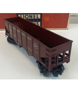 Lionel 6456 O Scale Red Maroon Lehigh Valley LV 2 Bay Hopper Car In Box ... - $29.85